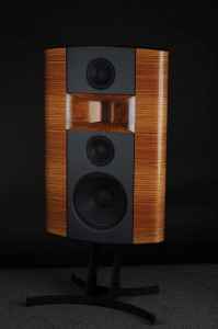 Triad's CinemaReference products were designed for home cinema and music systems that demand high sound pressure levels (SPLs) and audiophile sound quality. This Triad CinemaReference LCR is shown with a zebra wood finish.