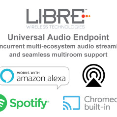 Libre Wireless Technologies Introduces New Universal Wireless Audio Streaming and Multiroom Audio End Point