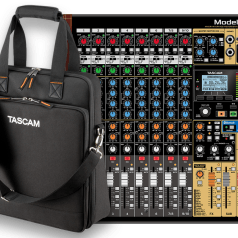 Tascam Model 12 Integrated Production Mixer and Recording Interface Now with Carry-On Bag
