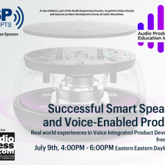 Audio Engineering Society Introduces Audio Product Education Institute and First Interactive Voice Con Online Event