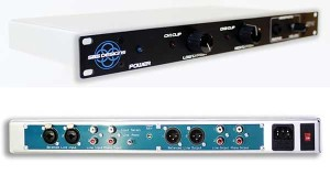 The SP-1 tube device has two front-panel controls (top). The SP-1 offers a line level to phono level playback with a reverse phono curve to a line level source (bottom).