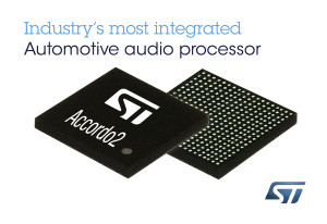 STMicroelectronics Accordo2 Automotive Audio Processor Shrinks