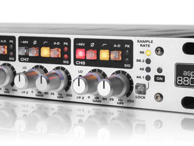 Audient ASP880 Eight-channel Microphone Pre-Amplifier and ADC