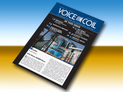 The January 2015 Edition of Voice Coil is Now Available Online