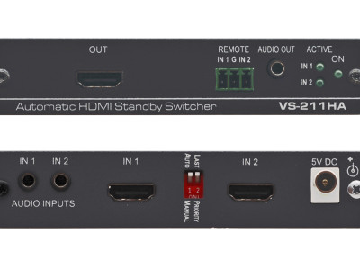 Kramer VS-211HA Auto Switching Solution Based on Real HDMI Signal Detection