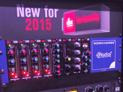 dbx Introduces 500 Series Processors at NAMM 2015
