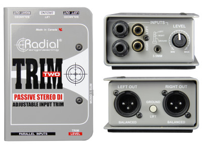 Radial Trim-Two Passive Stereo Isolator Connects Laptops and Smartphones to Balanced Systems
