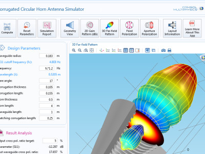 New COMSOL Multiphysics Version 5.1 Allows Integrated Simulation App Design