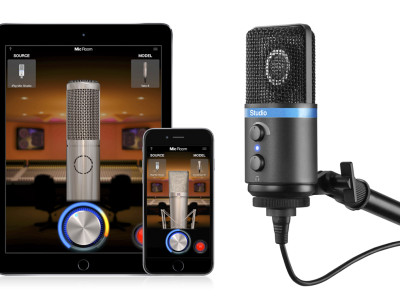 IK Multimedia Introduces Mic Room Modeling App and iRig Mic Studio Condenser Microphone