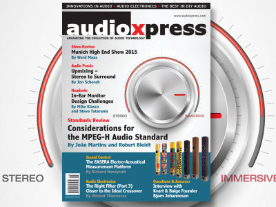 An Inspiring audioXpress August 2015 Edition is Now Available
