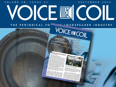 Voice Coil September 2015 Edition Is Ready for You!