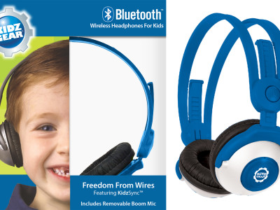 Kidz Gear Announces Bluetooth Wireless Headphones Designed For Kids