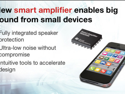 Texas Instruments Introduces New TAS2555 Smart Amp with Integrated Speaker Protection