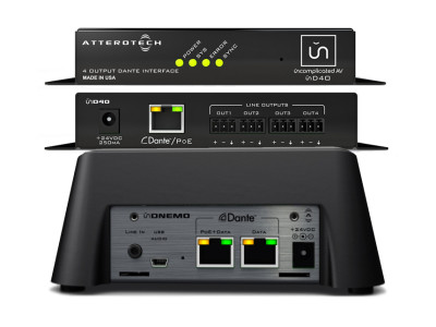 Attero Tech Introduces New Dante Network Audio Monitor and Four Channel Output Interface