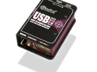 Radial Engineering USB-Pro High-Resolution, 24-Bit, 96-kHz Stereo Direct Box