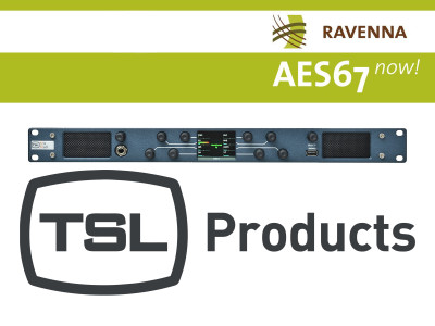 TSL Products joins RAVENNA Partnership in Response to Rapid Adoption of AoIP