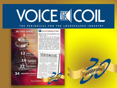Voice Coil Celebrates 30 Years! Download Now!