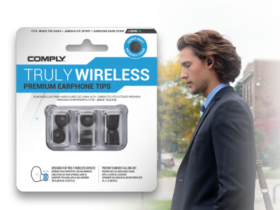 Comply Foam Improves Hearable Experience with Truly Wireless Premium Foam Tips