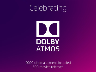 Dolby Atmos Now Installed in Over 2,000 Screens and 500 Movie Titles Released