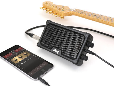 IK Multimedia New iRig Nano Amp Versatile Micro Instrument Amp with Built-in iOS Interface