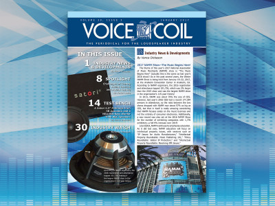 Welcome to Another Year of Voice Coil! Download the January 2017 Edition Now.