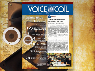 Voice Coil March 2017 Is Ready. Get All the Loudspeaker Industry News and Updates