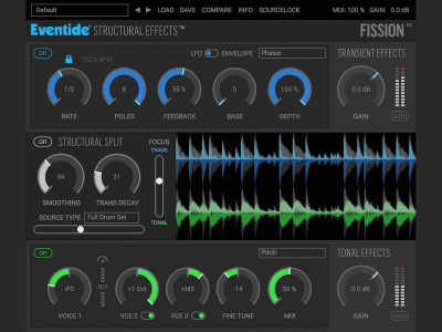 Eventide Enters New Plug-in Paradigm with Sound-splitting FISSION Featuring Structural Effects