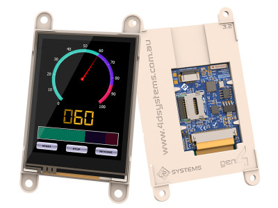 Intelligent Touch-Screen Display Modules with Integrated WiFi from 4D Systems