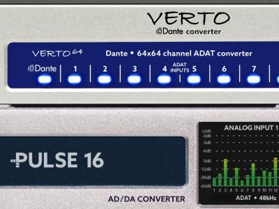 Ferrofish Introduces VERTO, Pulse16 and A32 DANTE Converters at Prolight+Sound 2017
