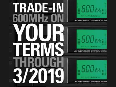 Audio-Technica Announces Trade-In Rebate Program for 600 MHz Wireless Systems in USA