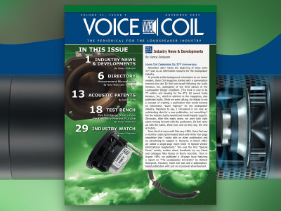 Celebrate Another Growth Year with Voice Coil November 2017