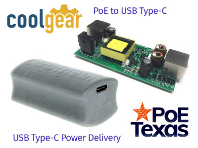 PoE Texas and CoolGear Join Forces on USB Type-C With Power Delivery On Power Over Ethernet