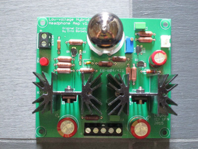 A Hybrid Tube/MOSFET Headphone Amplifier