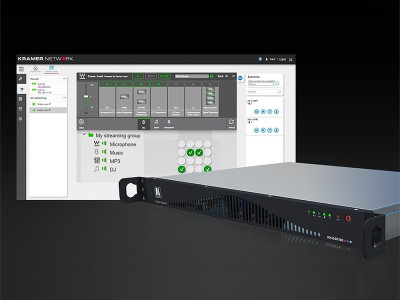 Waves MultiRack Audio Processing Plugins Power the KN-DSP100 Kramer Network Server