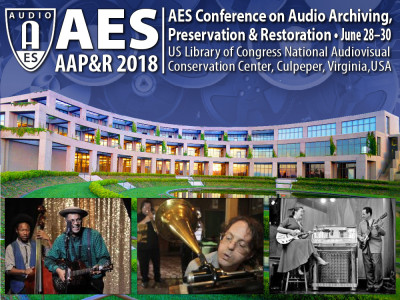 2018 AES International Conference on Audio Archiving, Preservation & Restoration
