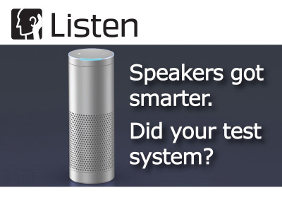 New Listen Seminars in Boston and Chicago on Testing Smart Speakers, Voice Controlled Devices, Automotive Audio and More