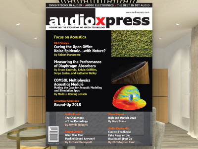 Get a New Perspective on Acoustics with audioXpress August 2018