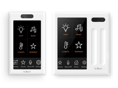 Brilliant Debuts In-Wall Smart Home Controllers with Voice, Touch, And Motion Control Built-In