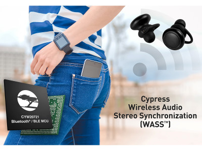 Cypress Bluetooth Audio Solution Provides Robust Connections for Wireless Earbuds and Hearables