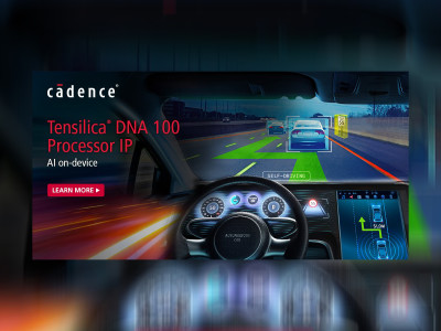 Cadence Launches New Tensilica DNA 100 Processor IP for On-Device Artificial Intelligence Applications