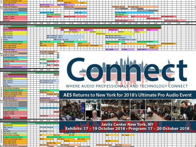 145th Audio Engineering Society New York 2018 Convention. Where The Audio Industry Convenes
