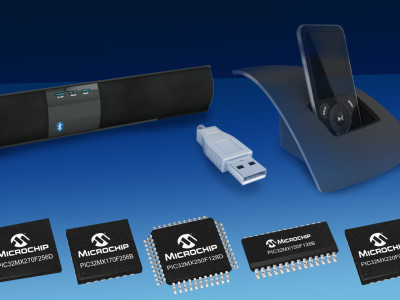 New Microchip Low-Cost PIC32MX1/2 Series MCUs for Audio and Bluetooth Applications