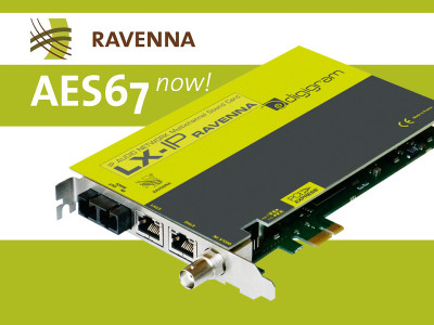 Digigram RAVENNA AES67 PCIe Sound Card Now Shipping