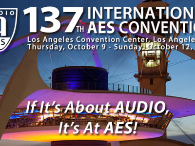 Check the Preliminary Technical Program for 137th Audio Engineering Society Convention