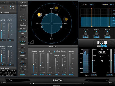 Flux Releases Positional Audio Plug-In IRCAM SPAT v3 for AAX/AU/VST