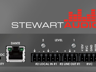 Stewart Audio Launches Low-Power Networked Amplifier Series