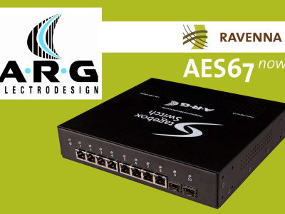 Ethernet Specialist ARG to support RAVENNA Technology
