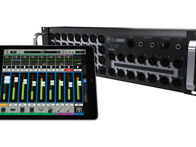 Mackie DL32R Digital Live Sound Mixer Wirelessly Controlled From iPad