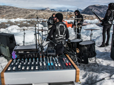 Audio Challenges on World's First Gig on an Iceberg