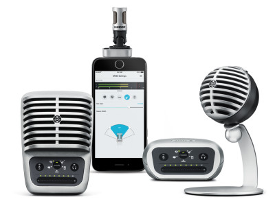 Shure Unveils New Motiv Digital Product Line and iOS Mobile Recording App